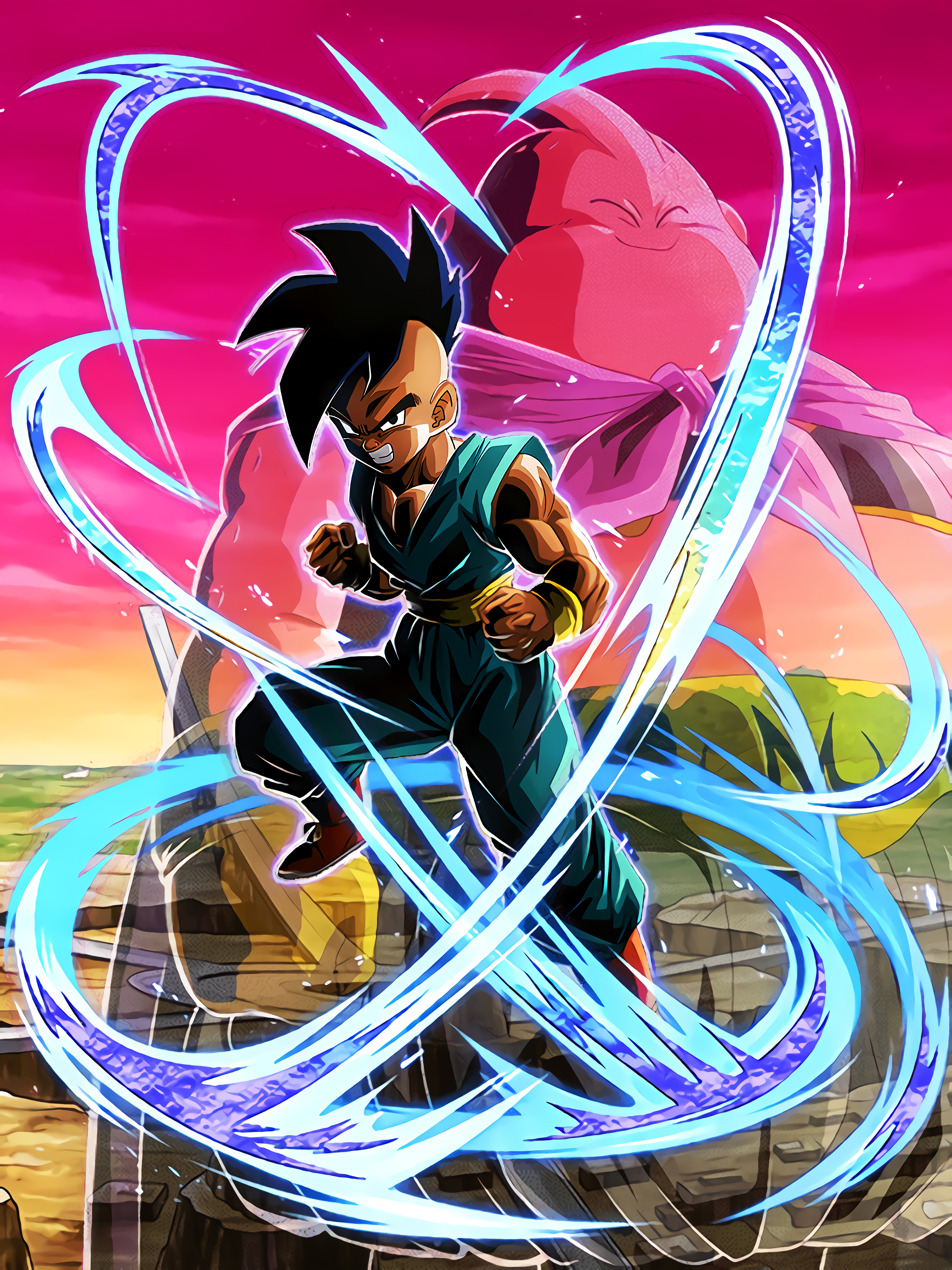Hidden Majin Power Uub Teen Art (Dragon Ball Z Dokkan Battle).jpg