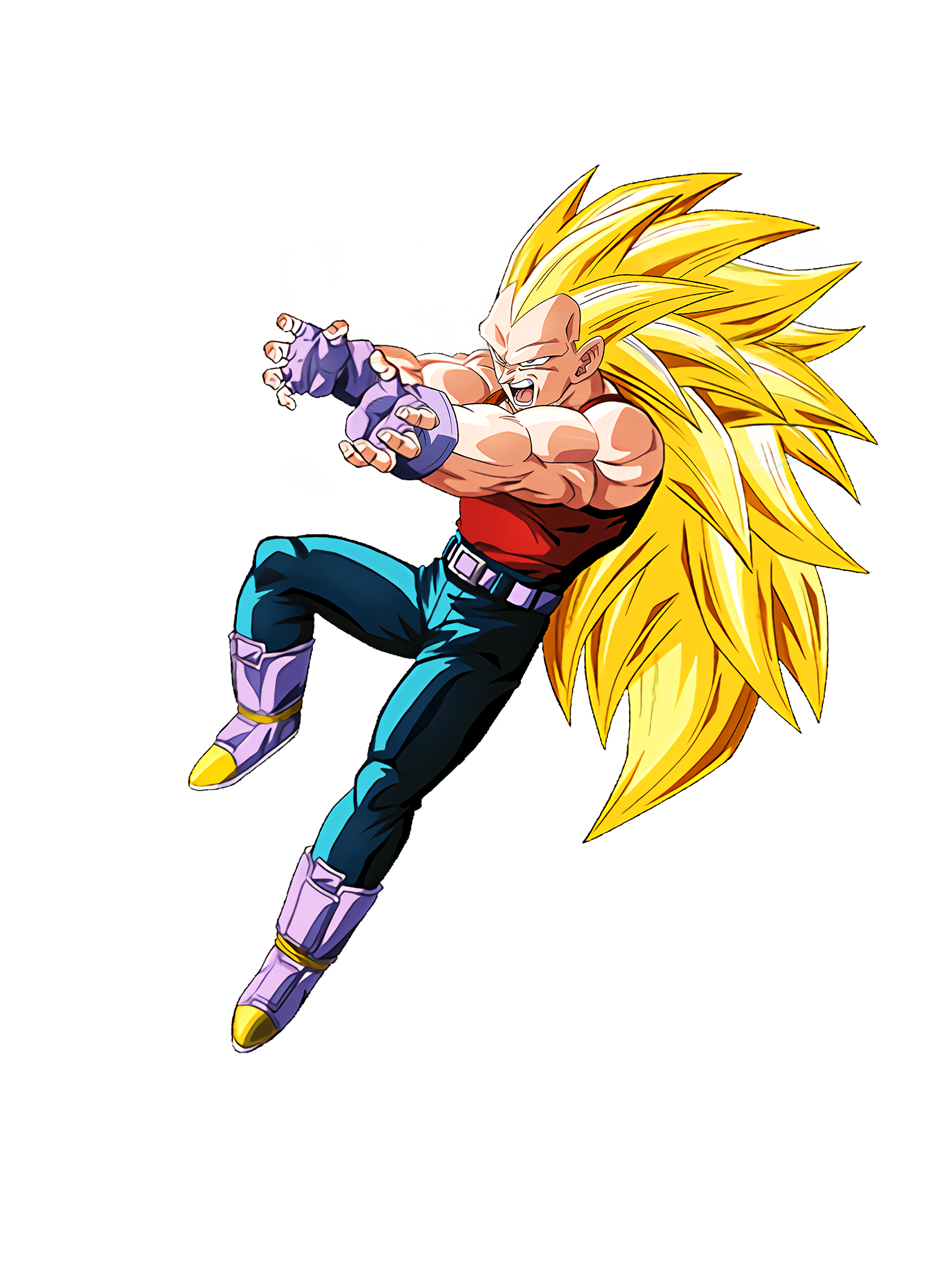 Limitless Saiyan Super Saiyan 3 Vegeta GT Render (Dragon Ball Z Dokkan Battle) .png