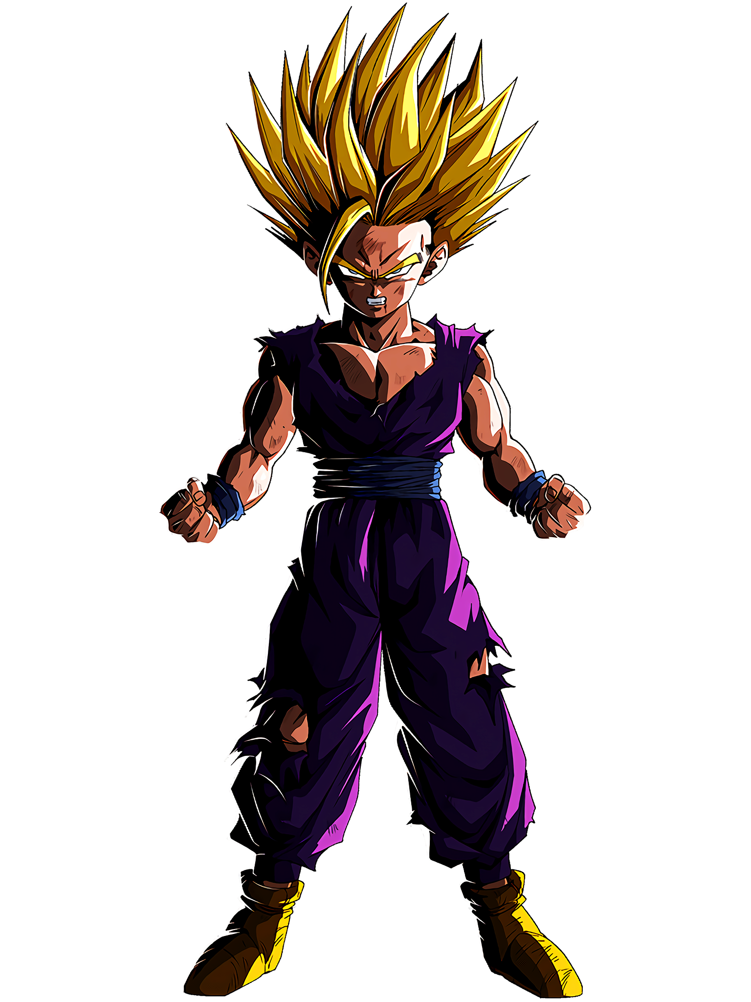 The True Power to Awaken Super Saiyan 2 Gohan Youth Render (Dragon Ball Z Dokkan Battle) .png
