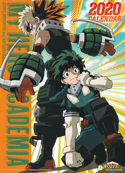00 My Hero Academia 2020 Calendar Cover